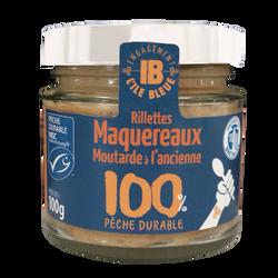 Rillettes de maquereaux et moutarde à l'ancienne ILE BLEUE, 100g