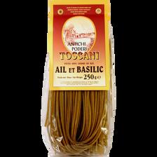 Pâtes linguine ail & basilic TOSCANI, 250g