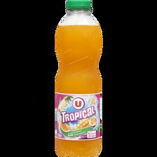 Boisson aux fruits plate tropical U, bouteille de 1l