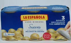 Olive à la farce d'anchois 3x120g La Espanola