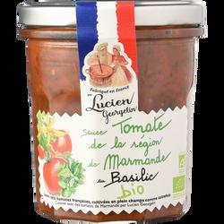 Sauce tomate marmande au basilic BIO LUCIEN GEORGELIN, pot en verre de300g