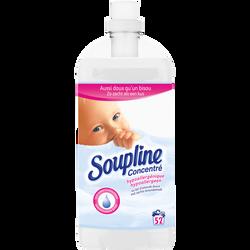Assouplissant concentré hypoallergénique SOUPLINE, 52 lavages soit 1,3l