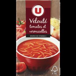 Velouté tomates vermicelles U, brique de 1l