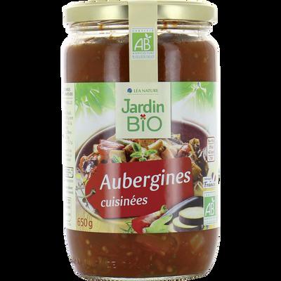 Aubergines cuisinées aux légumes et aromes bio JARDIN BIO 650g
