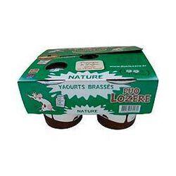 Yaourts brassés nature au lait entier DUO LOZERE, 4x125g