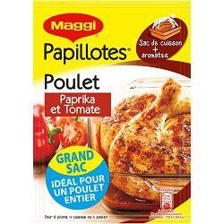 Papillotes de poulet paprika et tomates MAGGI sachet 28g