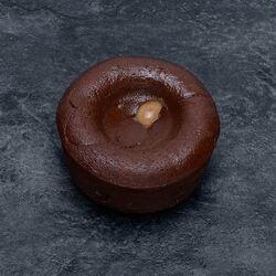 Coulant au chocolat coeur caramel au sel de Guérande, décongelé, 1 pièce, 100g
