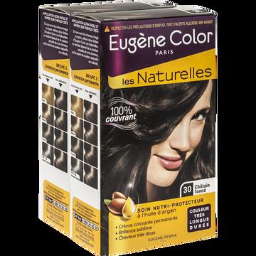 Eugène Color Coloration Permanente Châtain Foncé N°30 Eugène Color, X2