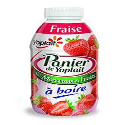 Yaourt a boire fraise morceaux,PANIER DE YOPLAIT,250g