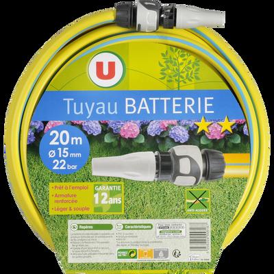 Tuyau batterie d'arrosage U, 15mmx20m, 120g/m