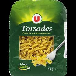 Pates torsade qualité supérieure U, paquet de 1kg