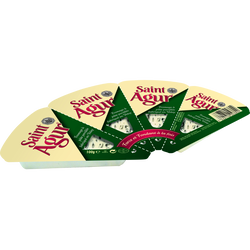 Fromage pasteurisé à pâte persillée ST AGUR, 33%MG, portions 4x25g