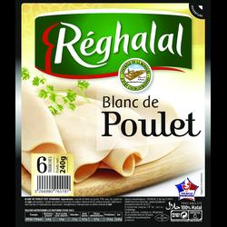 Blanc de poulet halal REGHALAL, 6 tranches, 240g