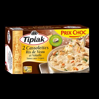 Cassolettes ris de veau et volaille sauce cèpes TIPIAK, x2, 220g