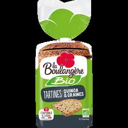 Tartines bio quinoa et céréales LA BOULANGERE, 450g