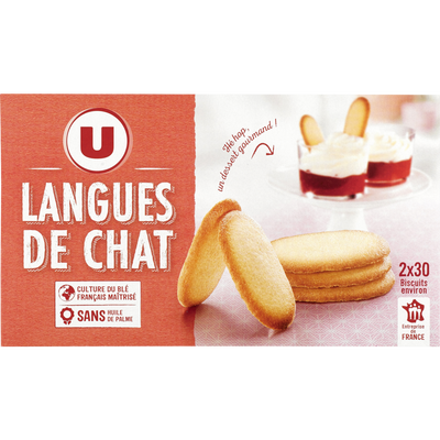 Langue de chat U, paquet de 200g