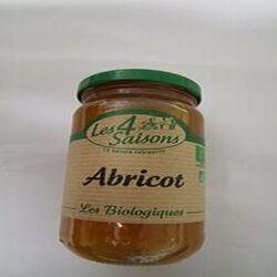 Confiture d'abricots bio, LES 4 SAISONS, pot de 360g