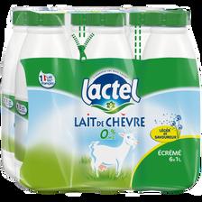 Lait de chèvre UHT écrémé stérilisé LACTEL, 6x1 litre