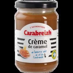 Crème de caramel au beurre salé CARABREIZH, pot en verre de 340g