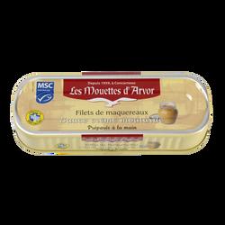 Filets de maquereaux sauce moutarde, MOUETTE D'ARVOR, 169g