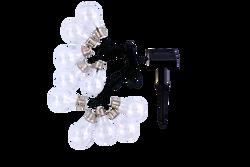 Guirlande solaire 10 led GRUNDIG blanches de 5 mètres-1 pilebouton NiMH incluse