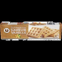 Gaufrettes fourrées saveur vanille U, paquet de 110g