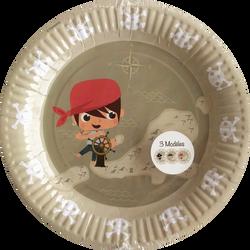 Assiettes pirate, 23cm, 6 unités