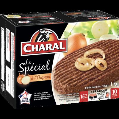Le Spécial à l'oignon CHARAL, 10x100gOrigine de la viande : France