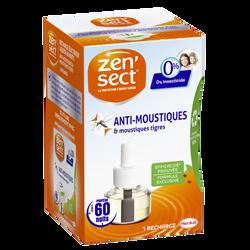Recharge électrique moustiques 0% insecicide ZENSECT, x60 nuits