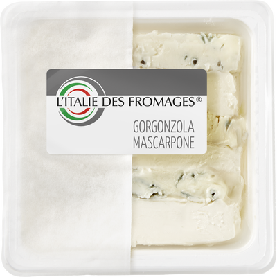 Gorgonzola au mascarpone pasteurisé, 36% de MG, take away de 150g