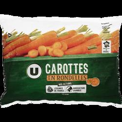 Carottes en rondelles U, 1kg
