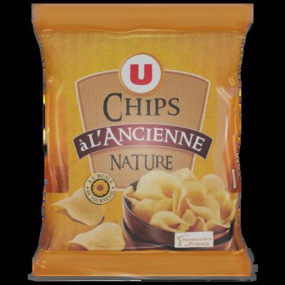 Chips à l'ancienne nature U, 6 sachets de 30g