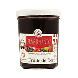 Confiture à l'ancienne de Fruits de la Fôret FERME DE LA PLANTAZ 370gr