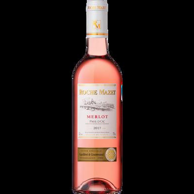 Pays d'Oc IGP Merlot rosé Roche Mazet, bouteille de 75cl