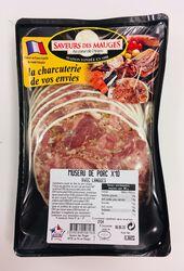 Museau de porc, SAVEURS DES MAUGES, barquette 10 pièces, 360g