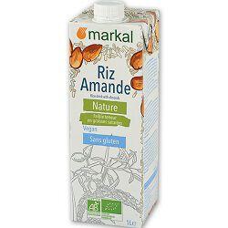 Boisson végétale BIO riz amande nature, MARKAL, brique de 1l