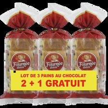 La Fournée Dorée Pains Au Chocolat  2x8 + 1 Sachet Offert 1,08kg