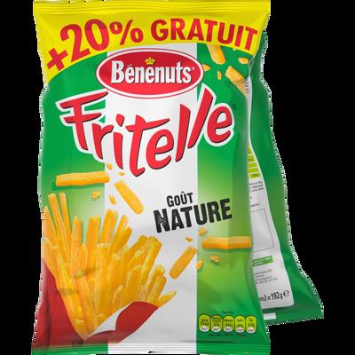Fritelle au sel nature BENENUTS, sachet 2x80g + 20% offert 192g