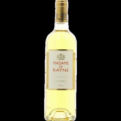 Sauterne blanc AOC moëlleux Madame De Rayne, 12° CB 6 bouteilles de 75cl