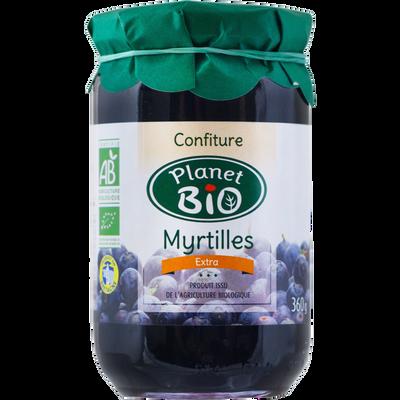 Confiture myrtilles BIO PLANET BIO, 360g
