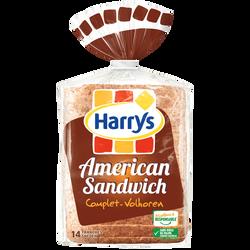 Pain de mie american sandwich complet HARRYS, 600g