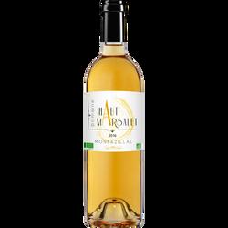 """Vin blanc AOC bio Montbazillac """"domaine Haut Marsalet"""", bouteille de 75cl"""
