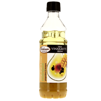 Vinaigrette mangue gingembre DELOUIS, bouteille de 35cl