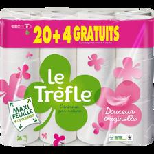 Le Trèfle Papier Toilette Maxi Feuille , 20 Rouleaux + 4 Gratuits