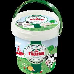 Fromage blanc frais et doux au lait pasteurisé 7% RIANS 750g