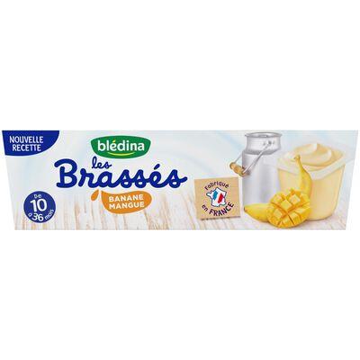 Les brassés sav mangue/banane dès 10 mois BLEDINA, 6X95G soit 0,570g