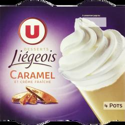 Liégeois au caramel U, 4x100g