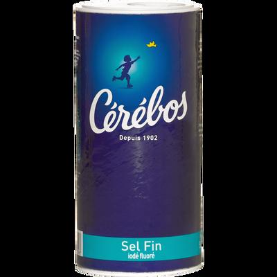 Sel fin iodé et fluoré CEREBOS, boîte verseuse de 500g