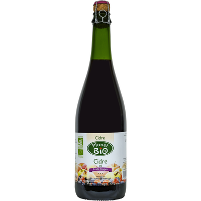 Cidre demi-sec et fruits rouges bio PLANET BIO, 75cl