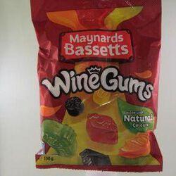 Bonbons gélifiés Wine gums MAYNARDS BASSETTS ,190g